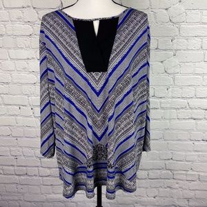 Cato 3/4 Sleeve Print Blouse Top Plus Size 22/24W